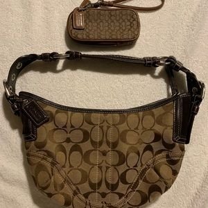 Coach Small Hobo purse & small Cell phone wallet